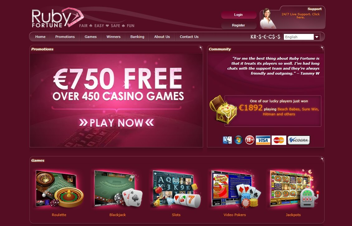 Ruby Fortune Welcome Bonus Offer